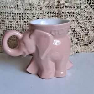 Vintage 1977 Frankoma Pottery GOP Pink Elephant